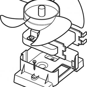 Waterwise 8800 Water Distiller Fan Motor Assembly