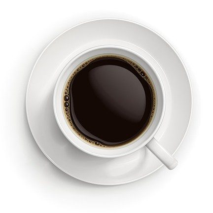 Vector illustration of cup with black coffee